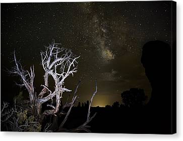 Milky Way Over Arches National Park Canvas Print by Adam Romanowicz