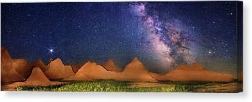 Milky Way Over Badlands National Park Canvas Print