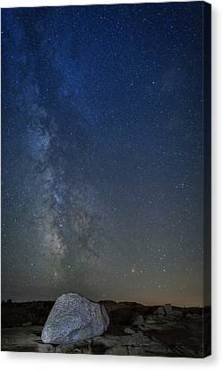 Maine Mountains Canvas Print - Milky Way Over Cadillac by Rick Berk