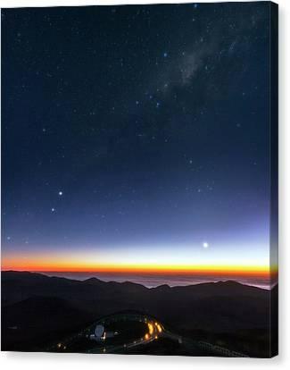 Milky Way Over Cerro Paranal Observatory Canvas Print