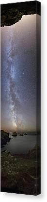 Milky Way Over Coast Canvas Print