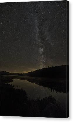 Milky Way Over Costello Creek Canvas Print