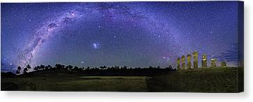Milky Way Over Easter Island Canvas Print by Walter Pacholka, Astropics