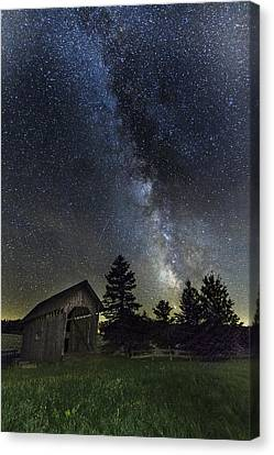 Milky Way Over Foster Covered Bridge Canvas Print