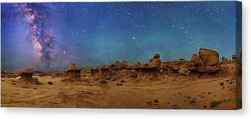 Milky Way Over Goblin Valley Canvas Print by Walter Pacholka, Astropics