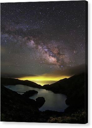 Milky Way Over Lagoa Do Fogo Canvas Print by Babak Tafreshi