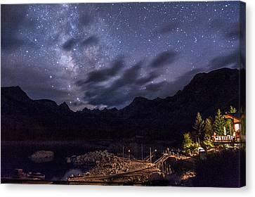 Milky Way Over Lake Sabrina Canvas Print