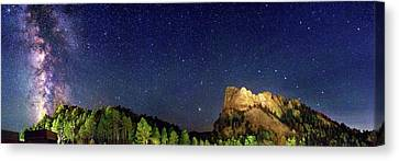 Milky Way Over Mount Rushmore Canvas Print by Walter Pacholka, Astropics
