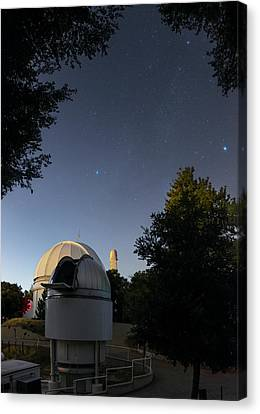 Milky Way Over Mount Wilson Observatory Canvas Print by Babak Tafreshi
