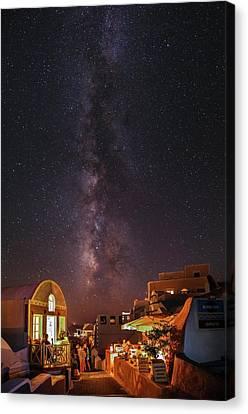 Milky Way Over Santorini Island Canvas Print by Babak Tafreshi