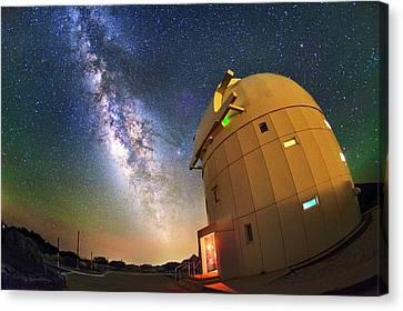Milky Way Over Tenerife Telescope Canvas Print by Juan Carlos Casado (starryearth.com)