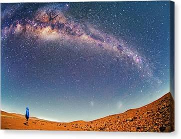 Milky Way Over The Atacama Desert Canvas Print by Juan Carlos Casado (starryearth.com)