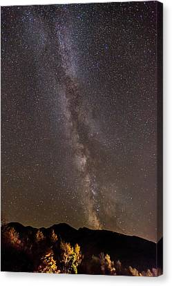 Milky Way Over The Presidentials Canvas Print by Tim Sullivan