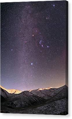 Milky Way Over Zagros Mountains Canvas Print