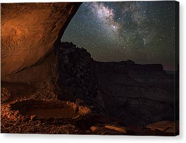 Copyright 2013 By Mike Berenson Canvas Print - Milky Way Skies From False Kiva by Mike Berenson