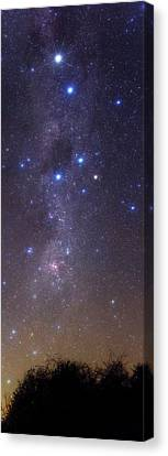 Constellation Canvas Print - Milky Way Stars And Nebulae by Luis Argerich