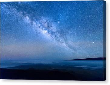 Milky Way Suspended Above Mauna Loa 1 Canvas Print
