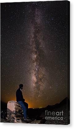 Milky Way Viewed From Ahaggar Mountains Canvas Print by Babak Tafreshi