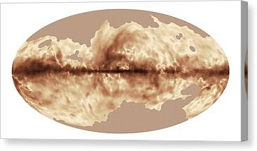 Milky Way's Magnetic Field Canvas Print by Esa Planck Collaboration