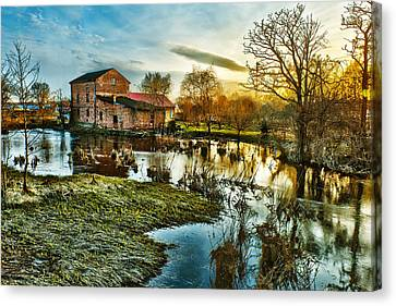 Mill By The River Canvas Print