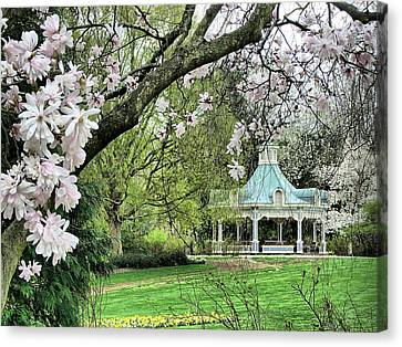 Mill Creek Park In Spring Canvas Print by Monnie Ryan
