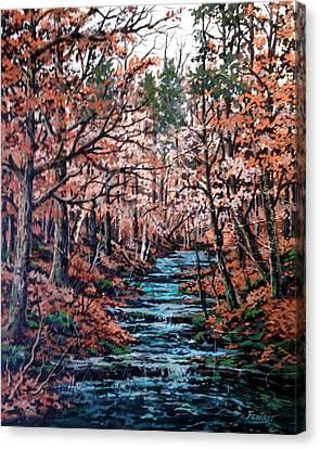 Mill Creek Canvas Print by W  Scott Fenton