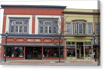 Clare Michigan Canvas Print - Mill End Store In Clare Michigan by Terri Gostola