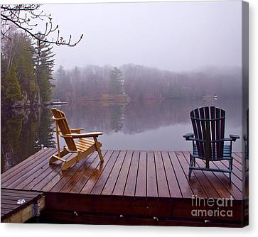 Mill Lake Mist Canvas Print