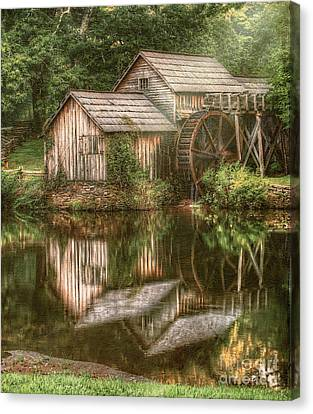 Mill On The Blue Ridge  Canvas Print by Darren Fisher