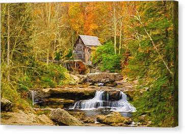 Mill On The Stream Canvas Print by Garland Johnson