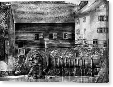 Mill - Sleepy Hollow Ny - By The Mill  Canvas Print by Mike Savad