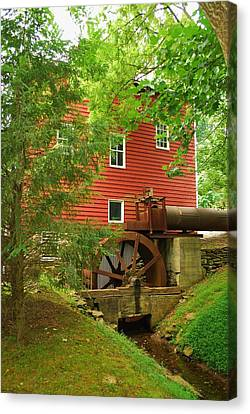 Canvas Print featuring the photograph Grist Mill Water Wheel by Bob Sample