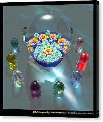 Millefiori Paperweight With Marbles  Canvas Print