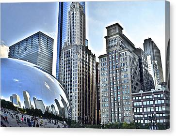 Walter Payton Canvas Print - Millenium Park by Frozen in Time Fine Art Photography