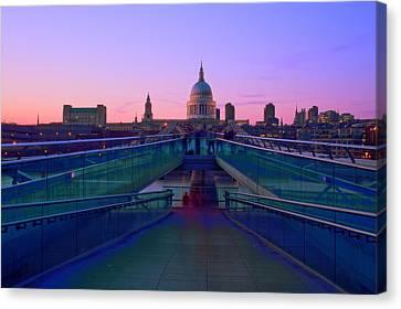 Millenium Thames Bridges  Canvas Print by David French