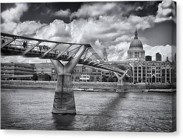 Millennium Bridge - St Pauls Cathedral Canvas Print