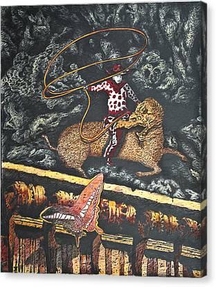 Millennium  Cowboy Canvas Print by Larry Butterworth