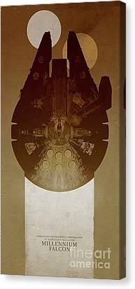 Falcon Canvas Print - Millennium Falcon by Baltzgar
