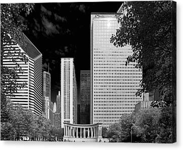 Millennium Park Monument - The Colonnade - Wrigley Square Chicago Canvas Print by Christine Till