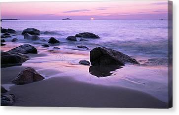 Millennium Sunrise Singing Beach Canvas Print by Michael Hubley