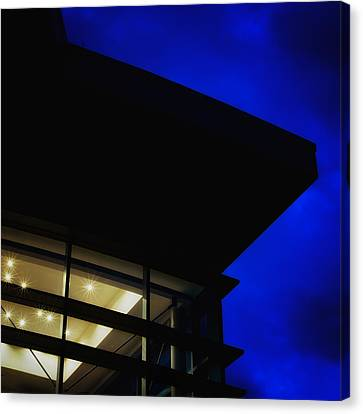 Miller Branch Library At Dusk Canvas Print by Geoffrey Baker