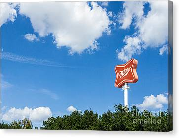 Miller Brewery Sign Canvas Print