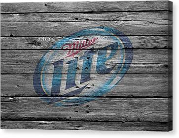 Handcrafted Canvas Print - Miller Lite by Joe Hamilton
