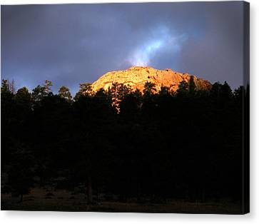 Canvas Print featuring the photograph Miller Moth Mountain by Craig T Burgwardt