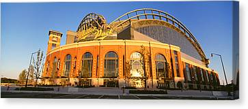 Miller Park Milwaukee Wi Canvas Print by Panoramic Images