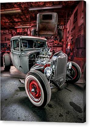 Millers Chop Shop 1931 Ford Coupe Canvas Print by Yo Pedro