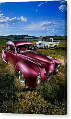 Millers Chop Shop 1940 Ford Coupe Canvas Print by YoPedro