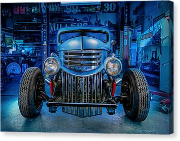 Millers Chop Shop 1946 Chevy Truck Canvas Print by Yo Pedro