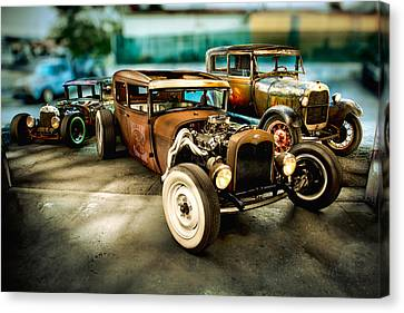 Millers Chop Shop Model A Sedans Canvas Print by Yo Pedro