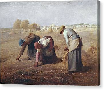The Gleaners Canvas Print - Millet, Jean Fran�ois 1814-1875. The by Everett